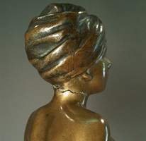 damaged antique bronze sculpture